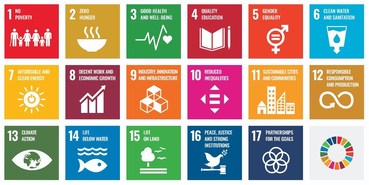 Les 17 objectifs de développement durable de l'ONU - Source : ONU